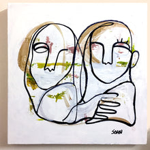 "Load image into Gallery viewer, ""Twins"" - MEDIUM SIZED CANVAS ART / ONE OF A KIND / ONE AVAILABLE"