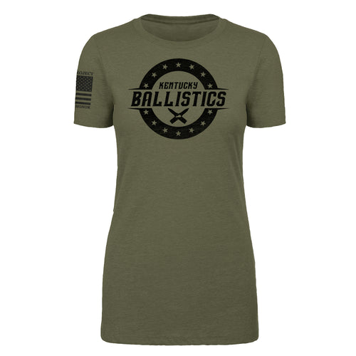 Kentucky Ballistics - Women's Military Green Tee Shirt