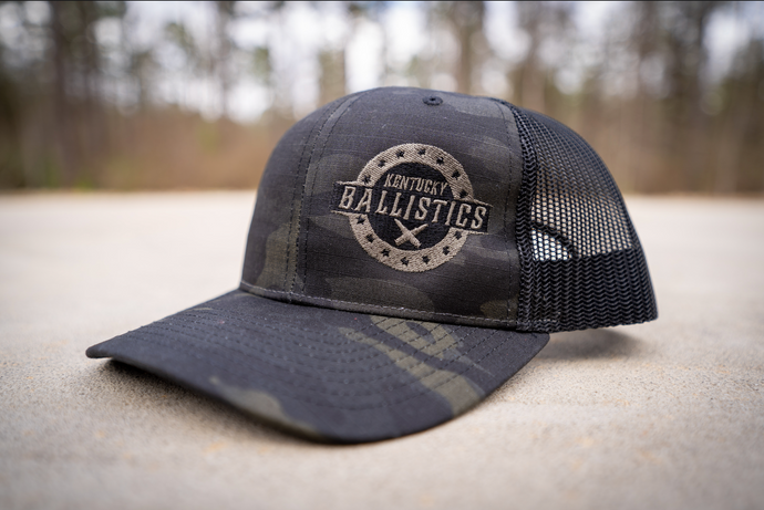 Kentucky Ballistics Multicam Black Trucker Hat