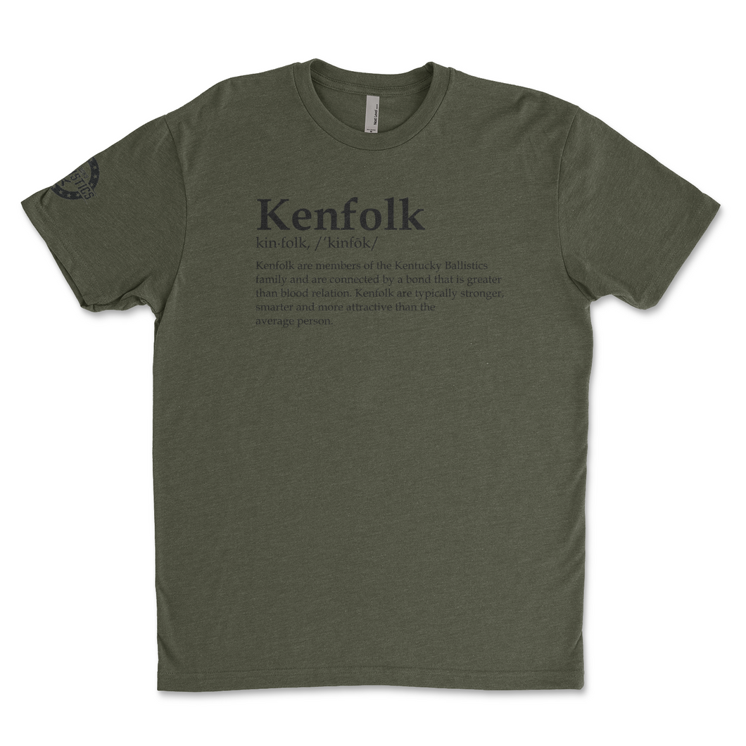 Kenfolk - Kentucky Ballistics - Men's Military Green Tee Shirt