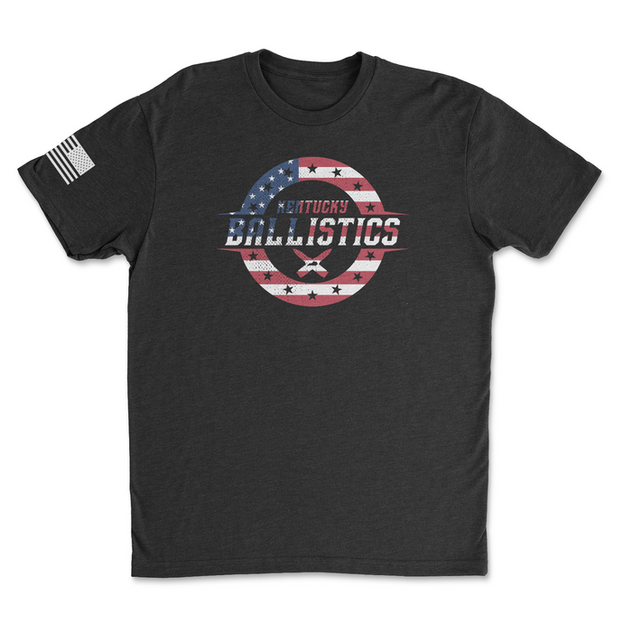 Kentucky Ballistics Logo - Freedom Edition - Men's Black Tee Shirt