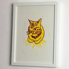 Load image into Gallery viewer, Sunshine Biscuit, Linocut print, A3