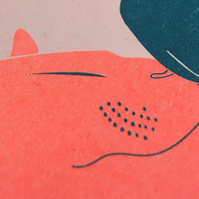Load image into Gallery viewer, Cuddle Up, Risograph print, ei8htycats