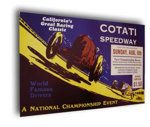 1922 Cotati Speedway Board Track Racing poster print