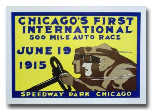 1915 Chicago Speedway Park  Board Track poster print