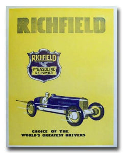 1933 Richfield Oil Gasoline Advertisement poster print