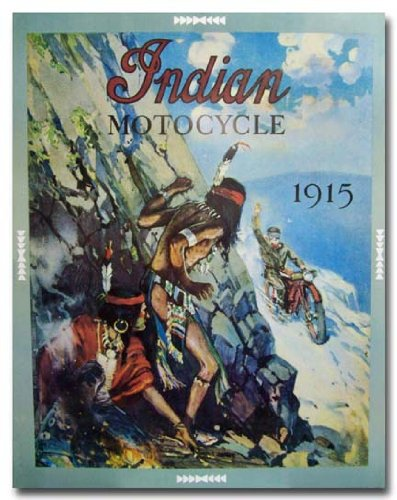 1915 Indian Motocycle Advertisement poster print