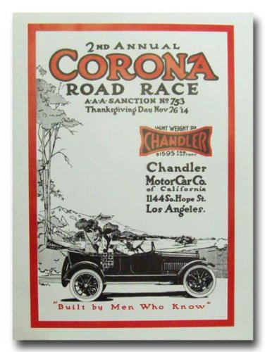 1914 Corona Road Race 2nd Annual poster print