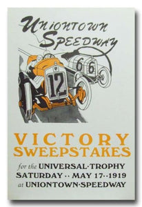 1919 Uniontown Speedway Board Track Racing poster print