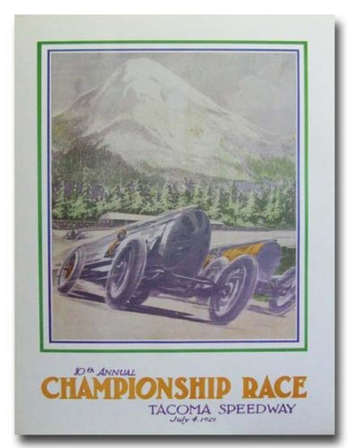 1921 Tacoma Speedway Championship Race poster print