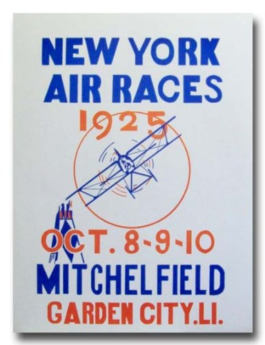 1925 Mitchel Field Long Island New York Air Races poster print