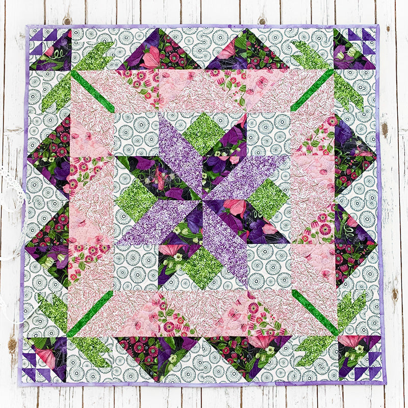 """""""A Day in May"""" Free Mystery Quilt Pattern designed & from Fort Worth Fabric Studio"""