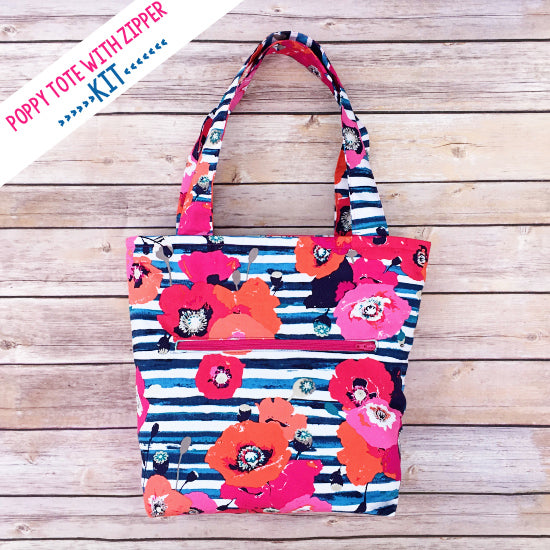 Poppy Tote with Zipper Pocket Sewing Pattern