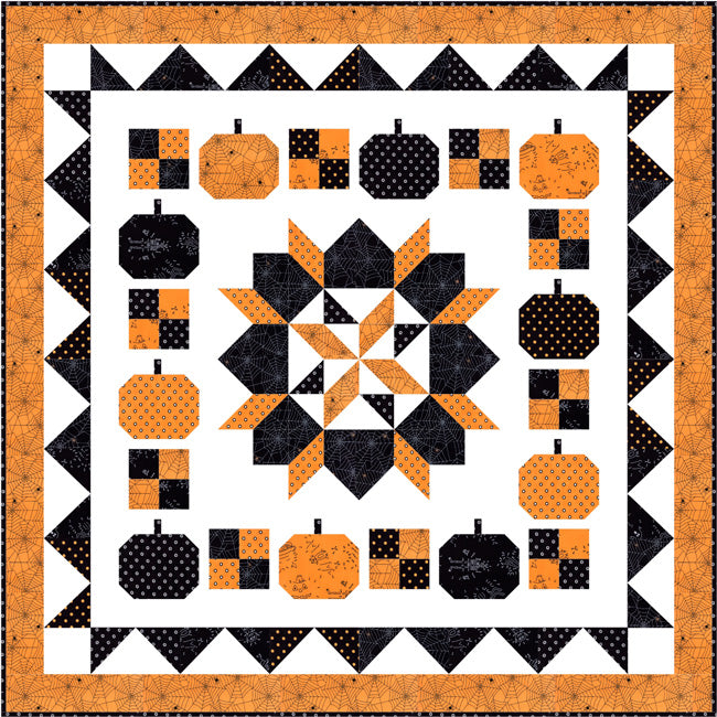 """Boo to You"" Free Halloween Quilt Pattern designed by Lindsey Weight from Fort Worth Fabric Studio"
