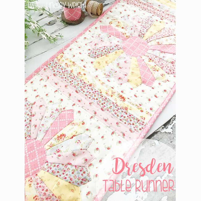"""""""Dresden Table Runner"""" Free Pattern designed and from by Lindsey Weight from Fort Worth Fabric Studio"""