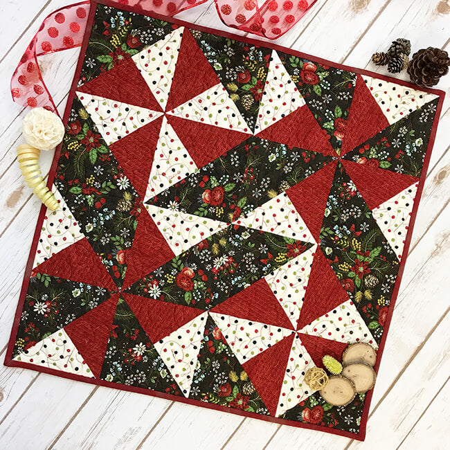 """Easy Mint Table Topper"" Free Pattern designed & from Fort Worth Fabric Studio"