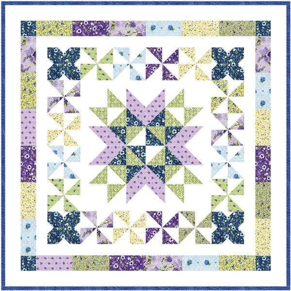 """""""Garden Path"""" Free Mystery Quilt Pattern designed by Lindsey Weight from Fort Worth Fabric Studio"""