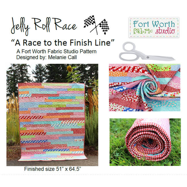 Jelly Roll Race to the Finish Line Quilt Pattern