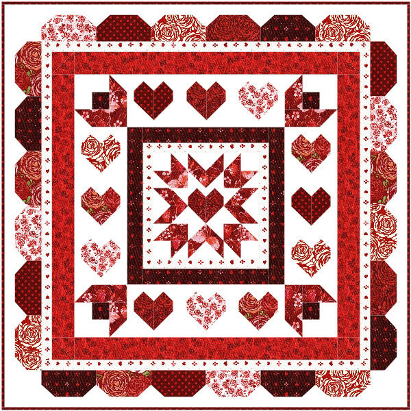 2018 Love Throughout the Year Valentine Mystery Quilt Pattern