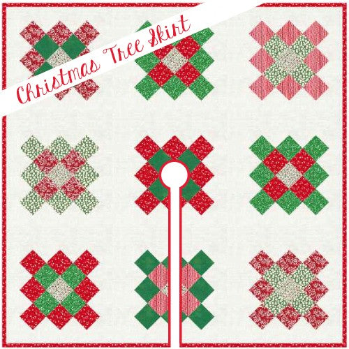 Granny Square Tree Skirt Quilt Pattern