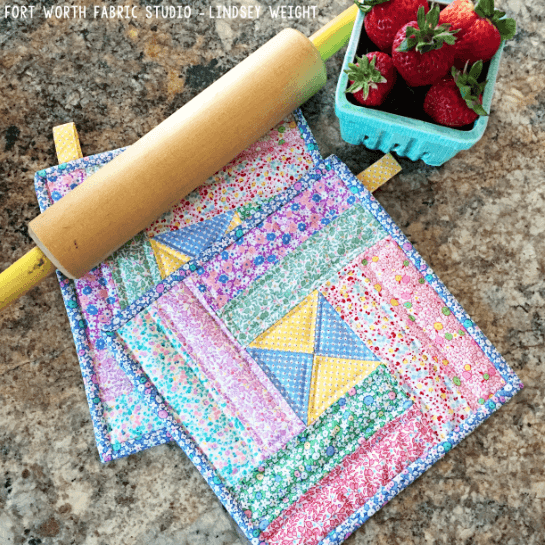Quilted Pot Holders Pattern