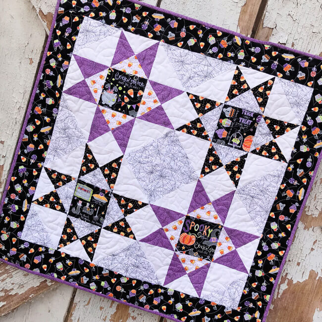 Spooky Stars Table Topper Quilt Pattern