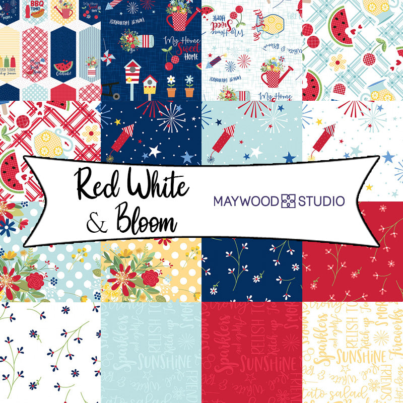 Red White & Bloom by KimberBell for Maywood Studios