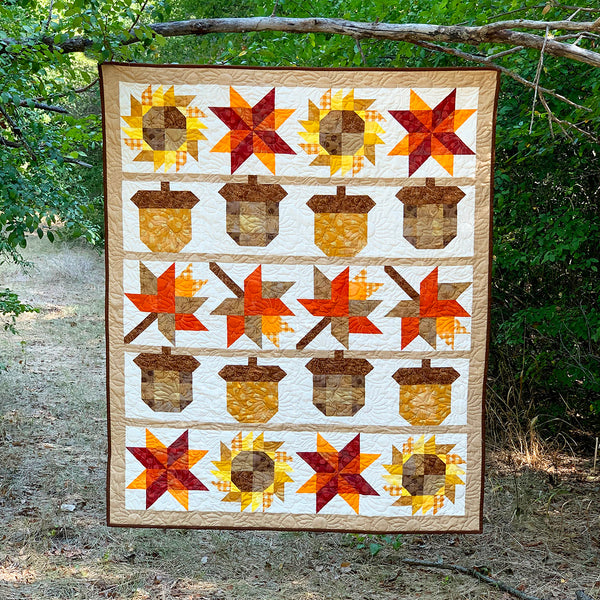 """""""2020 Absolute Autumn"""" Free Mystery Quilt Pattern designed & from Fort Worth Fabric Studio"""