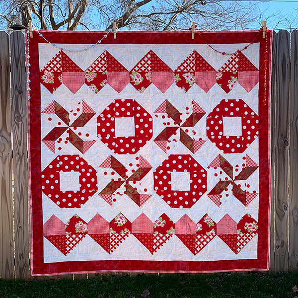 """""""2020 Love Supreme"""" Free Mystery Quilt Pattern designed & from Fort Worth Fabric Studio"""
