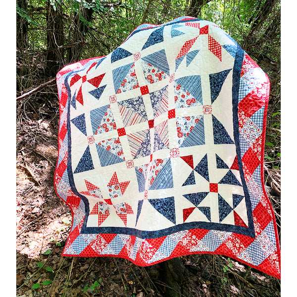 """""""Ultimate Picnic Spring Quilt"""" Free Mystery Quilt Pattern designed & from Fort Worth Fabric Studio"""