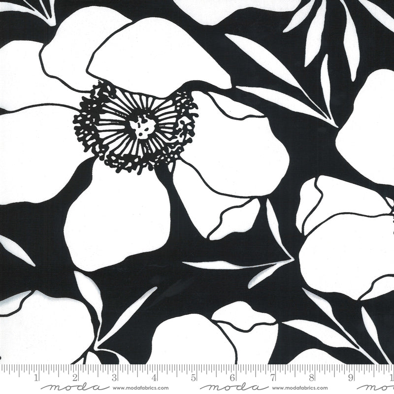 "Illustrations 58"" Canvas Moody Floral in Ink"
