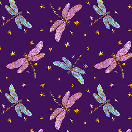 Swan Lake Dragonflies Purple