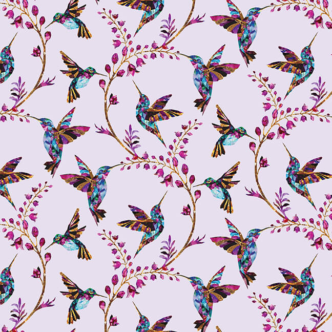 Swan Lake Hummingbirds Light Pink