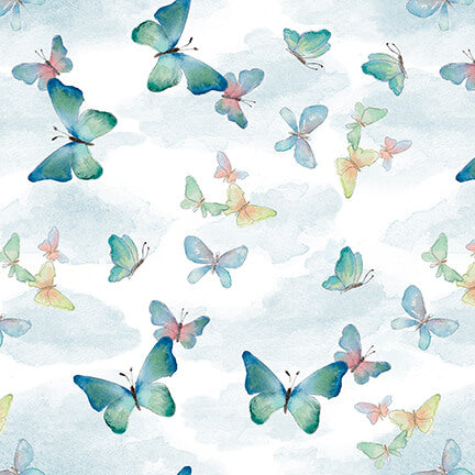 Love is in the Air Butterflies Light Blue