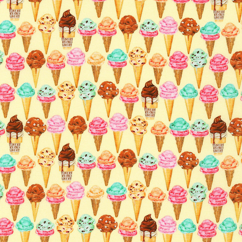 Sweet Tooth Small Ice Cream Cones Yellow