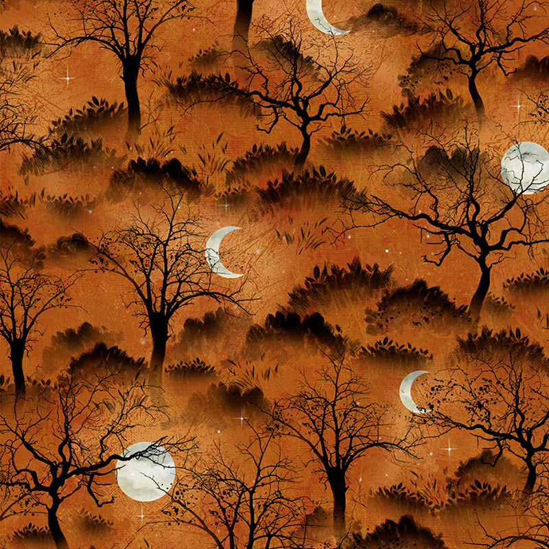 Frightful Night Trees & Moon Orange