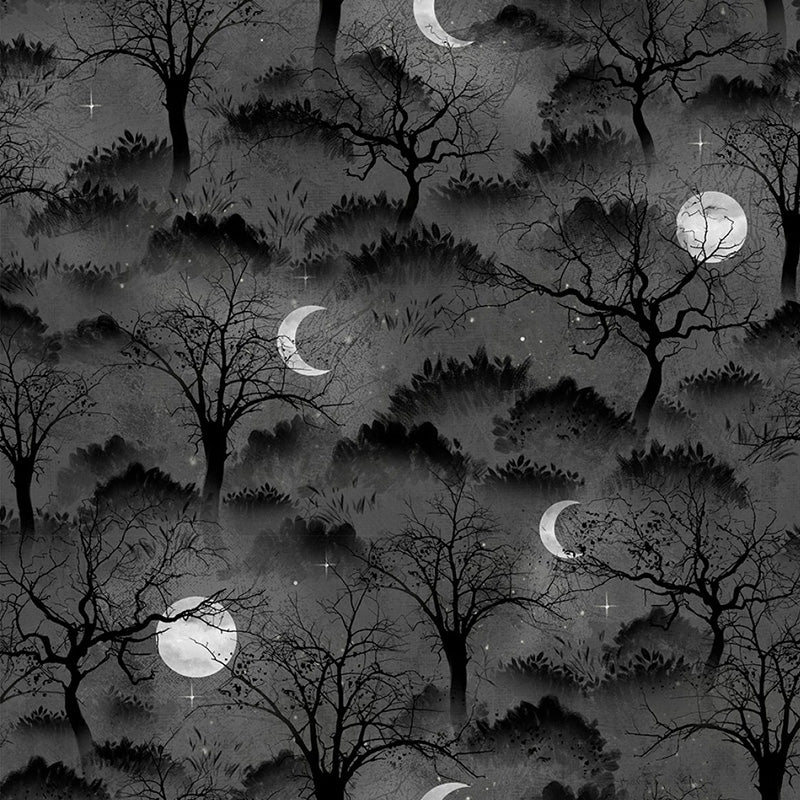 Frightful Night Trees & Moon Black