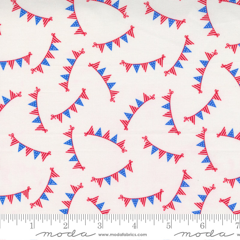 Holiday Essentials Americana Flag Bunting White