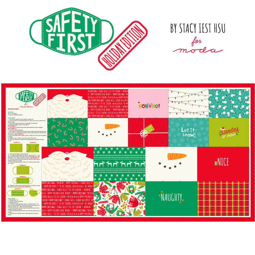 Safety First Face Mask Panel Holiday Edition from Moda