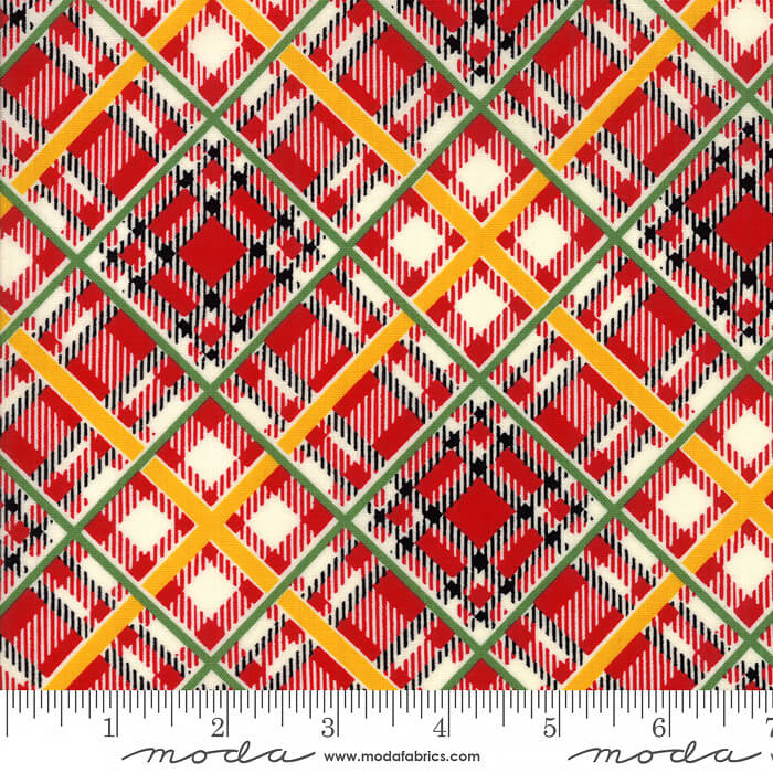 Bubble Pop Bias Plaid Red