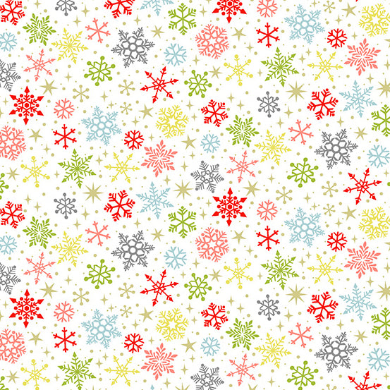 Joy Snowflakes White