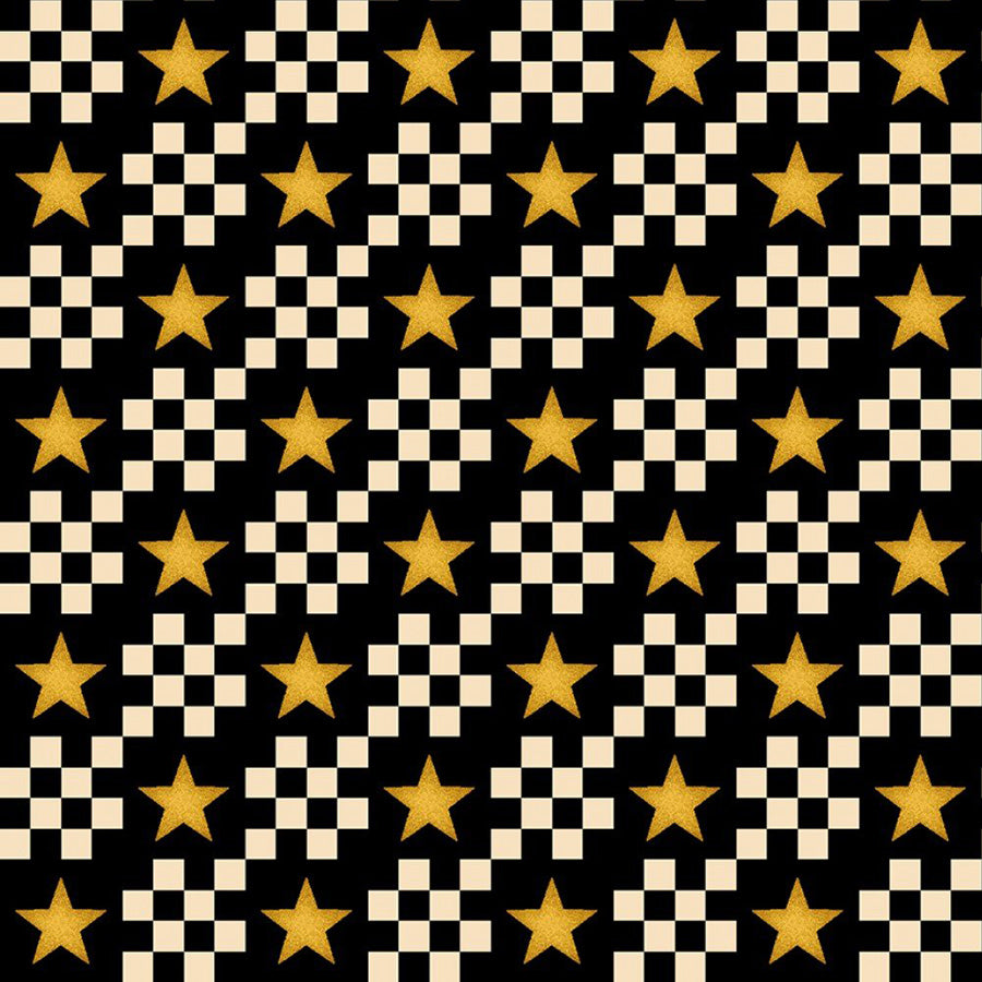 Count Your Blessings Star Check Black