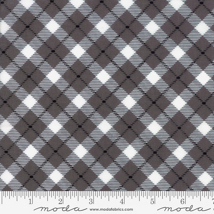 Midnight Magic Haunted House Plaid Mist