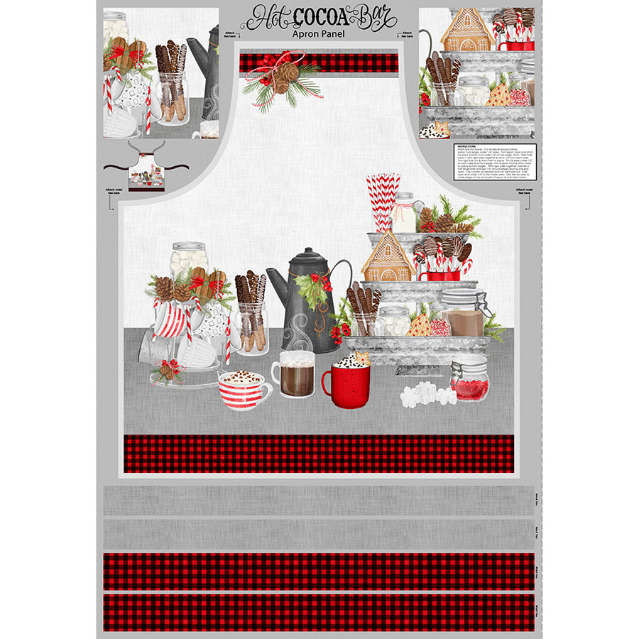 "Hot Cocoa Bar 24"" Apron Panel"