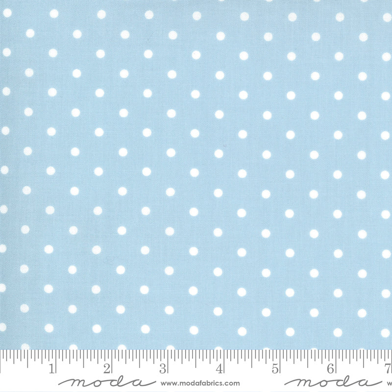 Crystal Lane Snow Dots Cashmere Blue
