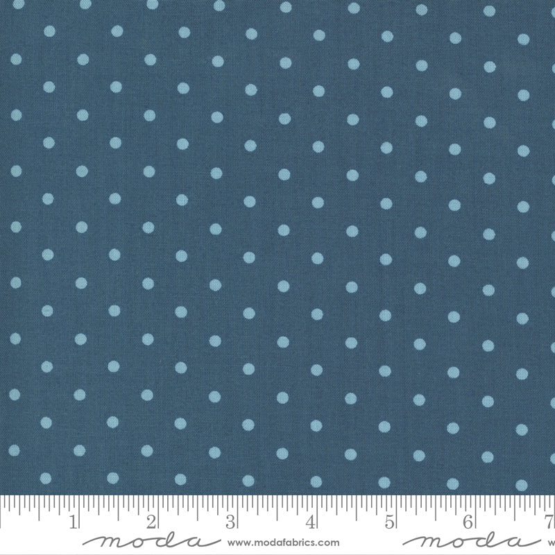 Crystal Lane Snow Dots Crystal Blue