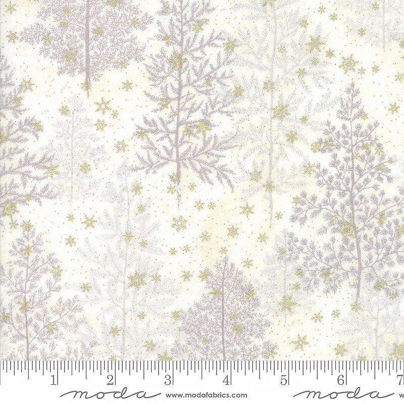 Forest Frost Glitter Pine Trees Snow