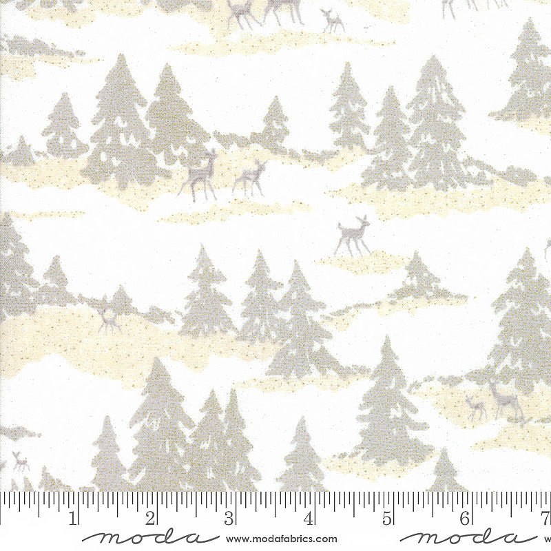 Forest Frost Glitter Deer Forest Snow