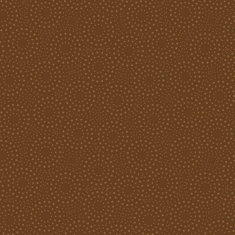 Sandalwood Dotted Circles Dark Brown