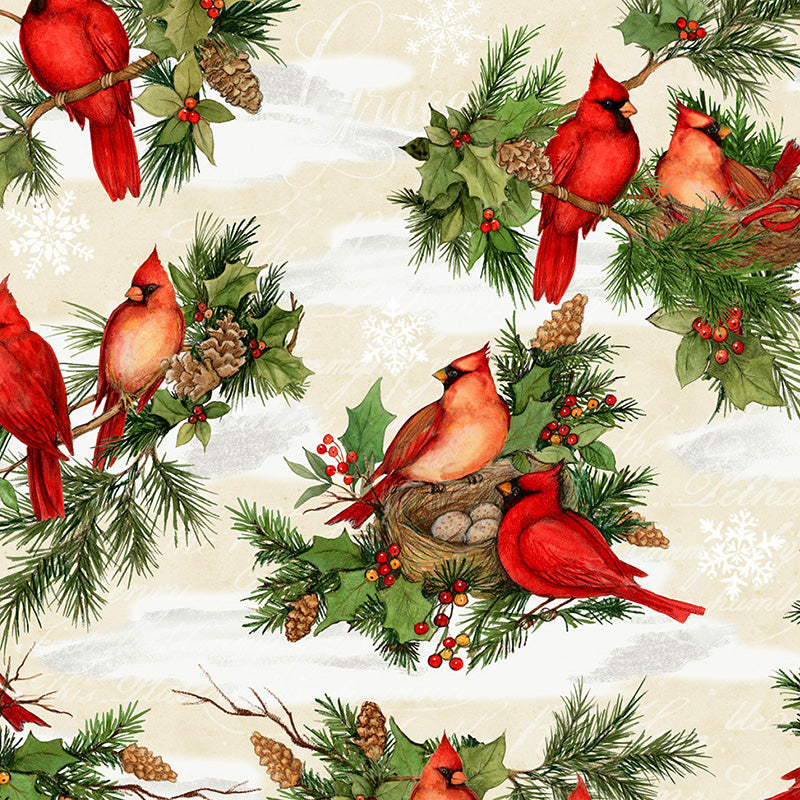 Cardinal Noel Large Allover Cream